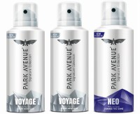 Park Avenue Signature - Voyage, Neo Deodorant Spray  -  For Men(450 ml, Pack of 3)