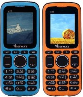 Mymax M25 Combo of Two Mobiles(Blue & Yellow)