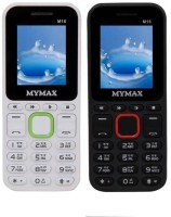 Mymax M16 Combo of Two Mobiles(White Green, Black Red)