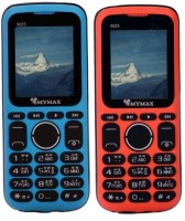 Mymax M25 Combo of Two Mobiles(Blue & Orange)