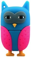 Microware Owl USB 2.0 Flash Drives External Storage 8GB Pendrive (Blue & Pink) 8 GB Pen Drive(Blue, Pink)