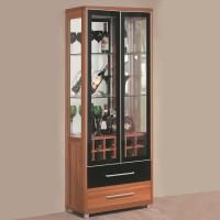 RoyalOak Iris Engineered Wood Bar Cabinet(Finish Color - Natural Brown)