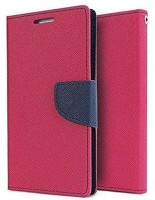 Johra Flip Cover for LYF Water 7(Pink, Dual Protection, Artificial Leather)