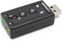 RETRACK 7.1 Channel External Sound Card USB Adapter(Black)