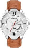 Mikado White Day and Date Functional Watch for Men's Watch  - For Boys