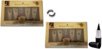 Professional kit Of Eyelashes, Mac Kajal Stick Pure & Dark Black 3 gm with Shahnaz Hussain 24 Carat Gold Kit 80 g(pack of 2)(Set of 4)