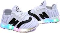 FEETWELL Boys Slip on Sneakers(White)