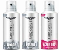 Park Avenue Signature - Voyage, Alter Ego Deodorant Spray  -  For Men(420 ml, Pack of 3)