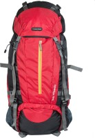 Indian Riders Front Open Model Hiking Trekking Camping Rucksack Bags-75L-Red & Black-(IRRB-008) Rucksack - 75 L(Red)