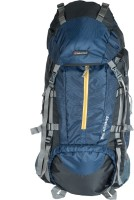 Indian Riders Front Open Model Hiking Trekking Camping Rucksack Bags-75L-Navy Blue & Black-(IRRB-009) Rucksack - 75 L(Blue)