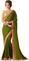 Kanha Fashion Embroidered Fashion Georgette Saree(Green)