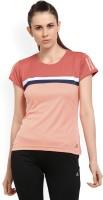 ADIDAS Solid Women's Round Neck Red, Orange T-Shirt