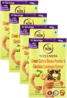 N2B PACK OF 4 OF GARCINIA CAMBOGIA EXTRACT & GREEN COFFEE POWDER - FAT & SUGAR BURNER - SLIMMING FORMULA - METABOLISM & ENERGY BOOSTER 100gX4(400 g)