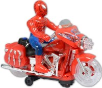 HALO NATION SpiderMan Bike Motorcycle Toys Battery Operated Toy for Kids(Red)