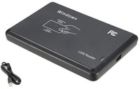 PremiumAV USB Interface 125Khz RFID Contactless Proximity Sensor EM4305 T5567 ID Card Reader Card Reader(Black)