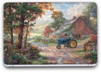 Flipkart SmartBuy Farm View Painting 2 Vinyl Laptop Skin (3M/Avery Vinyl, Matte Laminated, 14 x 9 inches) Vinyl Laptop Decal 14.1