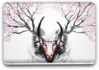 Flipkart SmartBuy Scary Deer Painting Vinyl Laptop Skin (3M/Avery Vinyl, Matte Laminated, 14 x 9 inches) Vinyl Laptop Decal 14.1