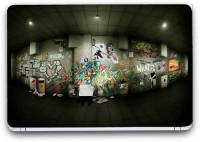 Flipkart SmartBuy Graffiti Painting 2 Vinyl Laptop Skin (3M/Avery Vinyl, Matte Laminated, 14 x 9 inches) Vinyl Laptop Decal 14.1