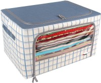 HomeStorie Living Box Foldable Storage Boxes for Clothes, Sarees, Blankets, 60-Ltr, Large 8411SED(Blue)