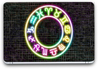 Flipkart SmartBuy Zodiac Signs 2 Vinyl Laptop Skin (3M/Avery Viny, Matte Laminated, 13 x 8.5 inches) Vinyl Laptop Decal 13.3