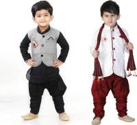 FTC FASHIONS Boys Festive & Party Kurta and Pyjama Set(Multicolor Pack of 2)
