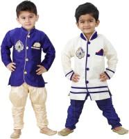 FTC Bazar Boys Kurta and Breeches Set(Blue Pack of 2)