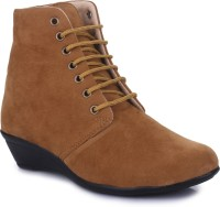 Sapatos Boots For Women(Tan)