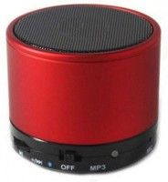 Estar  S10 LED Light Enabled Speaker with TF Micro SD Memory Cards Slot FM Radio Aux Cable Functionality Premium High Quality Product Extra Bass Play Mp3 Mp4 New Arrival Best Selling Lowest Price Supports All Android and Apple Iphone Ios Smartphones Tablets Laptops Devices Red Color 3 W Bluetooth S