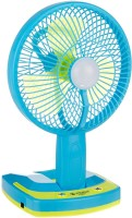 JYSUPER Rechargeable 3 Blade Multipurpose Table Fan with Emergency Light (Multi color) 3 Blade Table Fan(Multi Color)