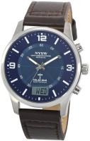 Timechant Blue25806 SOLAR Atomic! Aviator Solar Power radio controlled Watch(1067B) Analog Watch  - For Men