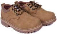 FEETWELL Boys Lace Casual Boots(Brown)