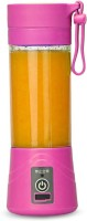 Zizatrendz . Portable Juicer 230 W Juicer Mixer Grinder(Pink, 1 Jar)