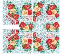 Imported Flower Lace Nail Art Stickers Water Transfer Slider Decals N808(Red) - Price 119 60 % Off
