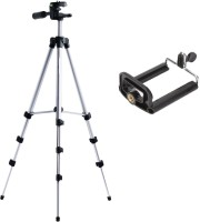 ReTrack 3Way Adjustable Head Aluminum-Tripod With Bracket Tripod(Silver, Supports Up to 1000 g)