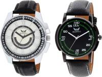 Martell Pack of 2 Doran Series Round Geniune Leather Strap Analog Sports/Stylish Watch-5136-63617 Doran Series Watch  - For Men
