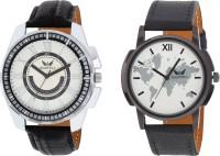 Martell Pack of 2 Doran Series Round Geniune Leather Strap Analog Sports/Stylish Watch-5136-6357 Doran Series Watch  - For Men