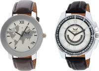 Martell Pack of 2 Doran Series Round Geniune Leather Strap Analog Sports/Stylish Watch -43513-5136 Doran Series Watch  - For Men
