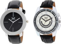 Martell Pack of 2 Doran Series Round Geniune Leather Strap Analog Sports/Stylish Watch -4321-5136 Doran Series Watch  - For Men