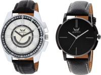 Martell Pack of 2 Doran Series Round Geniune Leather Strap Analog Sports/Stylish Watch-5136-63217 Doran Series Watch  - For Men