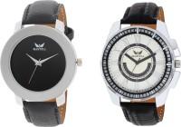 Martell Pack of 2 Doran Series Round Geniune Leather Strap Analog Sports/Stylish Watch -4311-5136 Doran Series Watch  - For Men