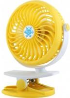 Mezire 360 Degree Rotate Rechargeable Handy Mini USB Fan ML-F168 USB Fan (Yellow) 4 Blade Table Fan(Yellow)