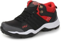 SRV Boys Lace Running Shoes(Black)