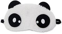 JustChhapo Fashion Panda Sleeping Eye Plush Mask Nap Eye Shade Cartoon Blindfold Sleep Eyes Cover Sleeping Travel Rest Eye Patch Sleep Mask Eye Shade(Black)