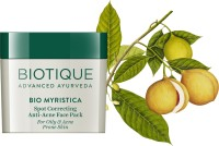 Biotique BIO Myristica Spot Correcting Anti Acne Face Pack(20 g) - Price 139 30 % Off