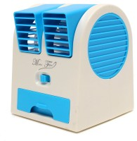 View BUY SURETY Mini USB Adjustable Angles Dual Air Outlet Fan Electric Air Fan Cooling Desktop Portable Bladeless Blower Mini Cooler Fan with USB Socket Room Air Cooler(Multicolor, 0.1 Litres) Price Online(BUY SURETY)