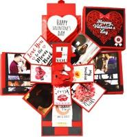 DecuT Explosion Box 3 Layered Handmade Valentine Romantic Gift Unique Scrapbook Diy Sweet Memories Photo Album (DIY Accessories Kit)(Multicolor)