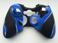 Microware Sleeve for X Box 360 Controller(Blue black, Rubber)