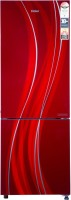 Haier 256 L Frost Free Double Door Bottom Mount 3 Star Convertible Refrigerator(Red Glass, HRB-2763CRG-E)