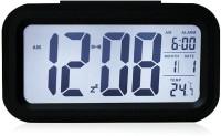 Tuelip Digital Nightlights Temperature Battery Operated Optically Controlled Liquid Crystal Alarm (Black) Clock