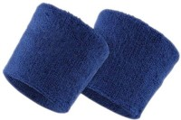 GymWar Wristband Wrist and sports band made with pure cotton Fitness Band(Blue, Pack of 2)